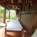 la terrasse de la maison d'hôtes