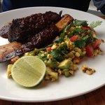 Texan rib with corn salsa