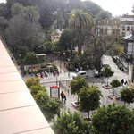 Uitzicht over het park