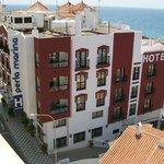 Uitzicht van op het dak van het hotel