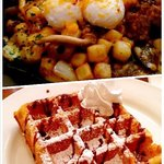 Waffle King! Lunch menu is great too!