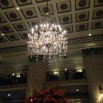 beautiful lobby chandelier