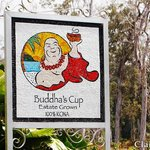 Sign for Buddha's Cup Kona Coffee Estate