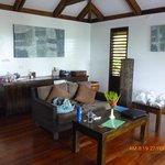 Lounge of honeymoon bure