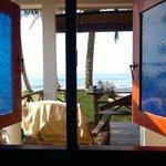 Blick aus dem Fenster der unteren Cabana