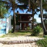 Ansicht vom Strand auf die Cabana