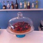 Cheesecake ai lamponi e frutti di bosco