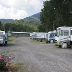 RVs in lower end of campground