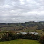 view from lunch of San Gimignano