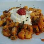 Gnocchi with a mozzarella mouse