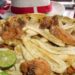 The famous fried chicken and chips on the Taste of Guanacaste Tour