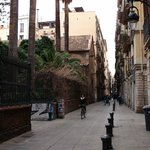 C. Elisabets (street) from the front entrance of the Casa Camper Hotel. great for strolling!