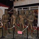 bronze statues outside