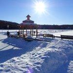 patinoire sur le lac Mercier