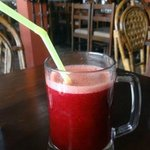 Bloody red beetroot juice ;)