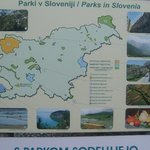 cave surroundings - map with slovenian national parks