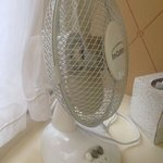 No air con in the rooms, small fans instead.
