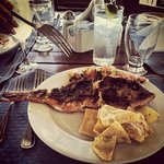 Freshly grilled red snapper for lunch