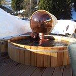 Sur la terrasse vue sur la sauna