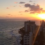 View from room 1916 at sunrise. Ask for ocean front (more expensive ) instead of ocean view !!
