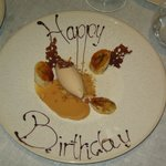 Lovely surprise - Complimentary Birthday Plate