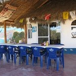 The comfortable patio - relax with Jamaica tea or excellent Margarita!