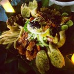 The grilled seafood platter