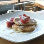 Stawberries & Maple Syrup Pancake Stack