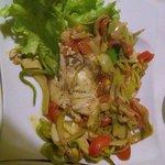 Sea bream with leek and artichoke