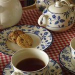 Tea and cookies were served on arrival