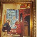 Quandro com motivos árabes e antigos