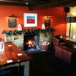 Cosy bar area with one of the two open fires