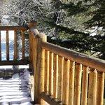 outside on back deck