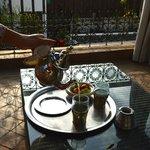 Afternoon tea on rooftop