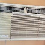 old broken air conditioner
