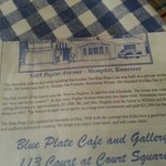 History of blue plate