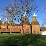 Beautiful oasts on the Sissinghurst estate