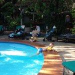 ungerne ved poolkanten