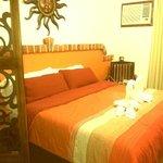 Schlafzimmer - jeden Tag sorgfältig und neu dekoriert... :-)