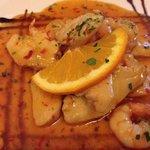 Frango com camarões em molho agridoce picante