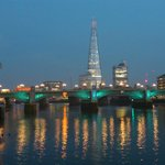 Southwark Bridge & The Shard (on departure)