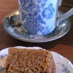 Delicious raspberry and chocolate flapjack