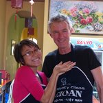 "Vina the owner and my husband ""in training"""