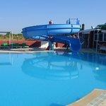mans swimming pool
