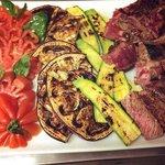 Cote de boeuf Black Angus et ses legumes frais grillés