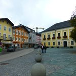 The quaint little mountain town of Mondsee