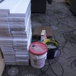 Renovation Supplies Sitting Out In Hallway