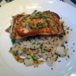 Pan seared flounder