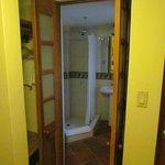 small closet and step into bathroom