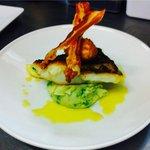 Ballycotton cod, pancetta, pea mash, crispy poached egg, lemon butter sauce